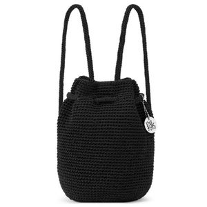 The Sak Backpack Woven Bag Shoulder Purse Black